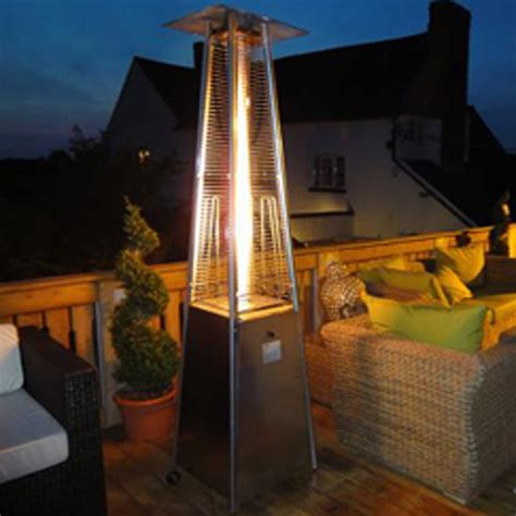 Athena 13kw Real Flame Commercial Patio Heater Inside Real Pyramid Patio Heater