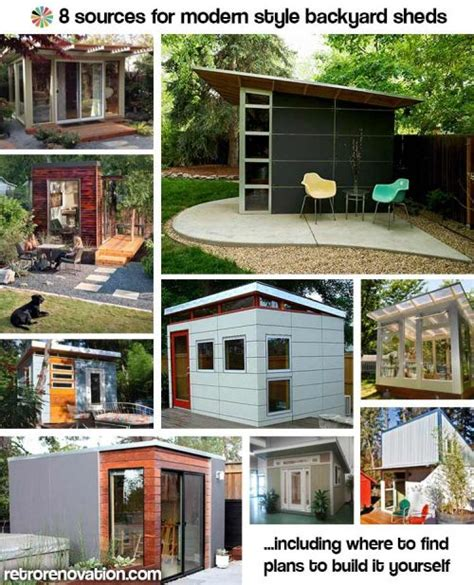 Plans To Build A Garage by 9 Sources For Midcentury Modern Sheds Prefab Diy Kits