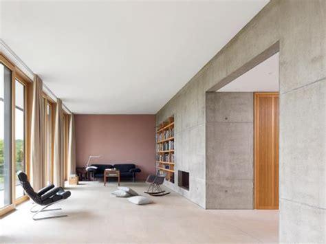 wohnzimmer puristisch einrichten aufger 228 umtes wohnzimmer mit sichtbeton bild
