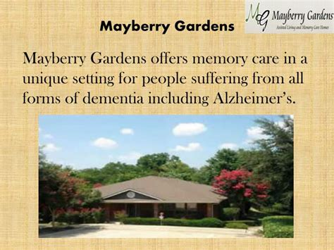 Mayberry Gardens by Ppt Memory Care Services At Mayberry Gardens Powerpoint