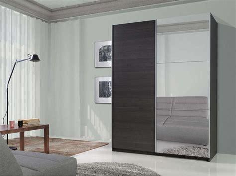 armoire 150 cm portes coulissantes armoire 2 portes coulissantes dont 1 porte miroir l 150 cm