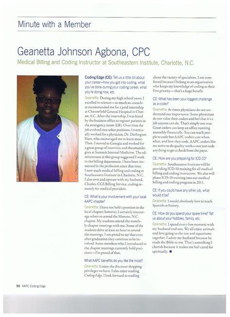 Aapc Coding Edge Magazine Interviews Geanetta Agbona Cpc