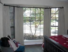 ceiling mounted drapery rod window treatments