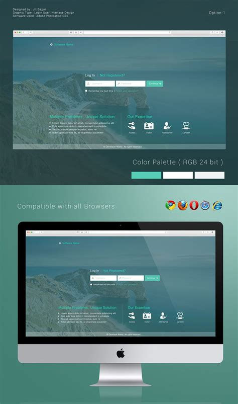 ui layout options 10 images about login screen ui on pinterest behance