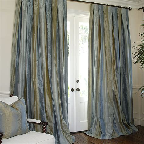 Striped Silk Fabric For Curtains Restoration Hardware Curtains Silk Curtain Menzilperde Net