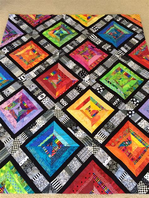 Bright Patchwork Quilt - my bright scrappy patchwork quilt made with a of 3