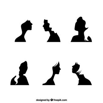 Hairstyle Tools Designs For Silhouette Cameo by Hair Vectors Photos And Psd Files Free
