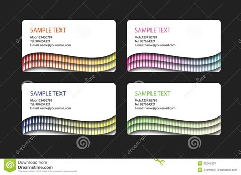 different business card templates template of business cards stock photos image 30246333