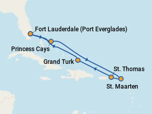 caribbean princess itineraries: 2018 schedule (with prices