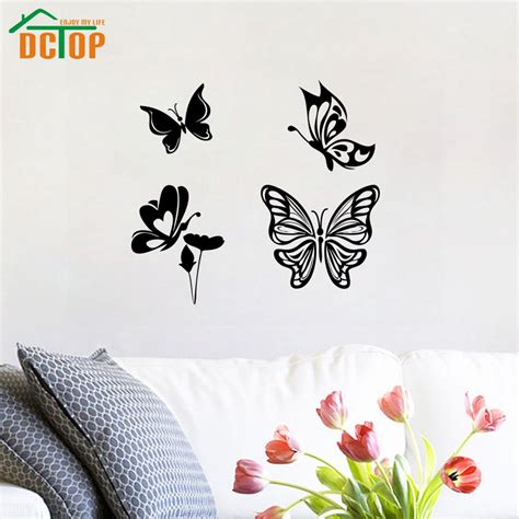 white butterfly wall stickers white butterfly wall decals promotion shop for promotional white butterfly wall decals on