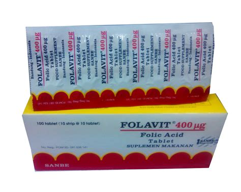 Tablet Folavit folavit 400mg suplemen utk cepat