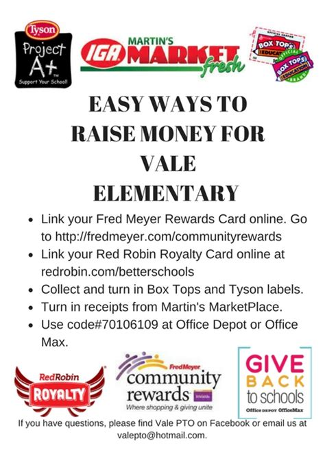 10 Easy Ways To Raise Money For Your School by Easy Ways To Raise Money For Vale Flier