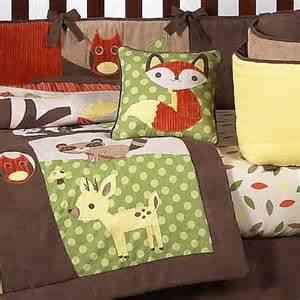 Baby Boy Deer Crib Bedding Woodland Forest Animals Owl Deer Tree Baby Boy Nature Bedding 9pc Crib Set By Sweet Jojo Designs