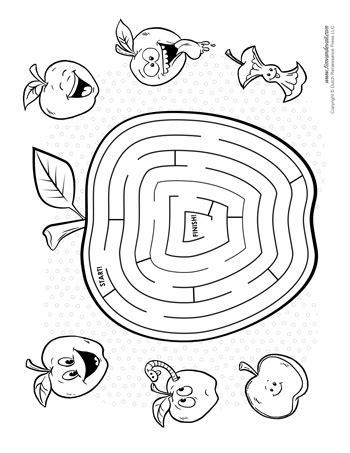 printable shark maze apple maze tim s printables