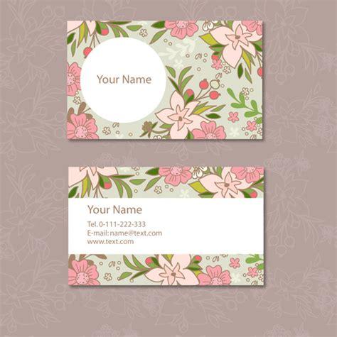 mirkwood designs flower card template ดอกไม นามบ ตร บ ตรบ ตรเวกเตอร เวกเตอร ฟร ดาวน โหลดฟร
