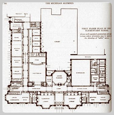 floor plans for school buildings university elementary school building