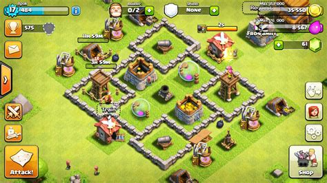 layout coc town hall level 4 town hall 4 defense layout www pixshark com images
