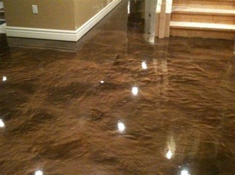 stained basement concrete floor staircase ideas remodel