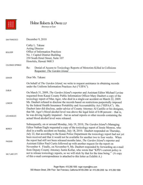 Attorney Resignation Letter To Client Tgi Attorney December 2010 Letter To Oip