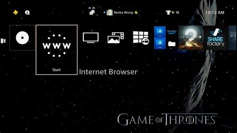 ps4 themes region game of thrones season 7 dynamic theme ps4 youtube