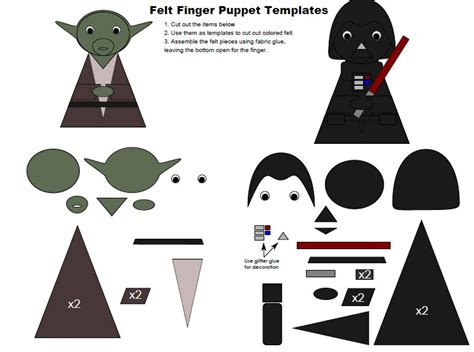 Wars Origami Finger Puppets - wars finger puppet templates grant michael gardner