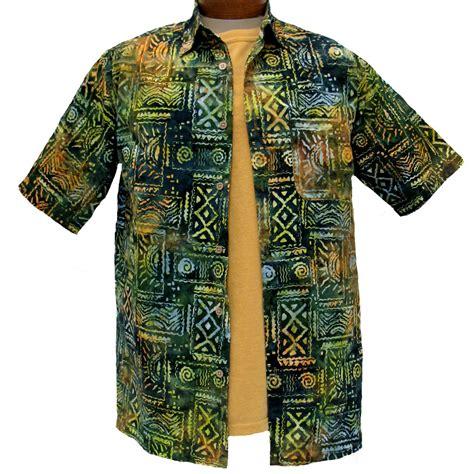 Shirt Batik Kepang Mix Colour s island by basic options 174 sleeve batik shirt 61748 4 spruce green sold out