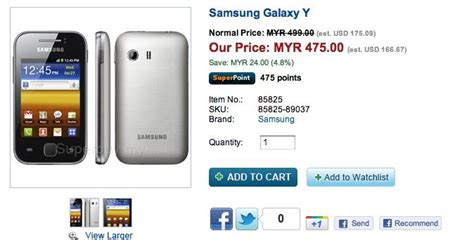 Hp Samsung Korea Di Malaysia harga handphone samsung galaxy y malaysia