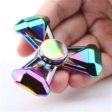 Promo Fidget Spinner Spinner Fidget Toys Satuan 5 fidget tri spinner zinc alloy finger gyro