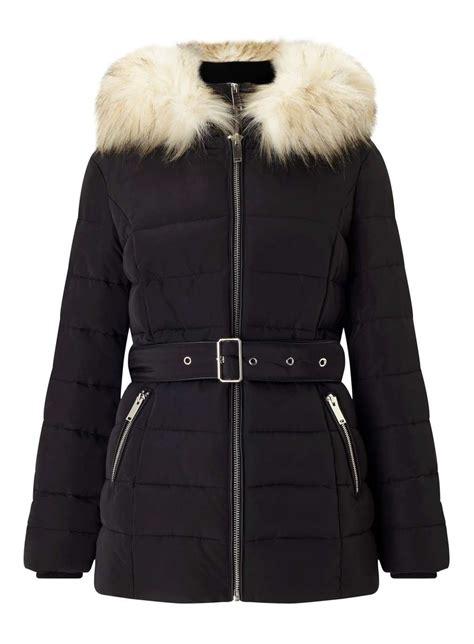 Puffer Coat black belted puffer coat miss selfridge