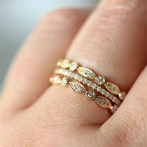 it s white and gold no it s blue and black thoughts from trend stacked wedding ring s say yes events