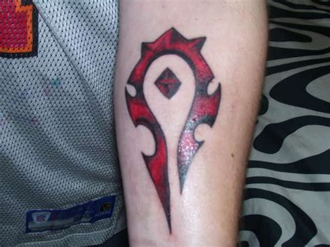 logo horde tattoo for the horde on forearm tattoo