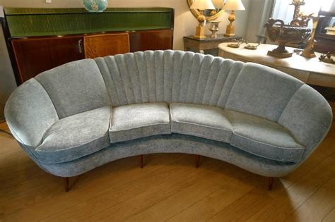 large curved sofa italy c1 950 in from circus antiques