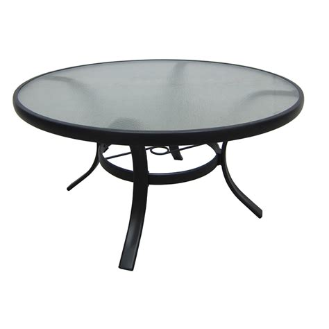 Glass Patio Table Shop Garden Treasures Lake Notterly 36 In Glass Top Steel Frame Patio Coffee Table At