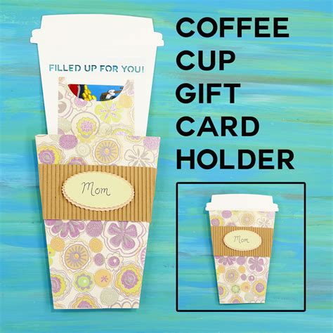 Coffee Gift Card Holder - take out coffee cup gift card holder jennifer maker