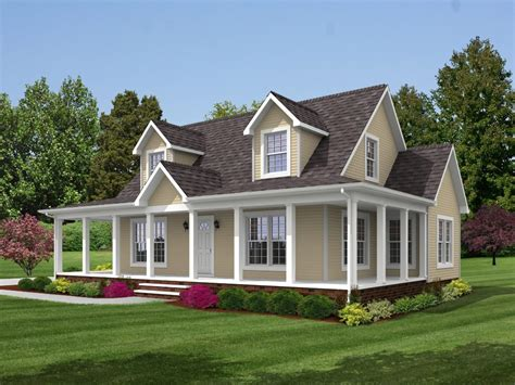 Small Farmhouse Plans Wrap Around Porch brookside 1789 square foot cape floor plan