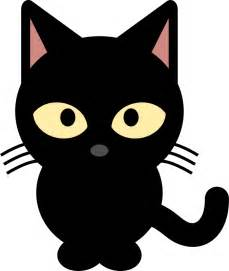 cute black and white halloween cat clipart free clip art