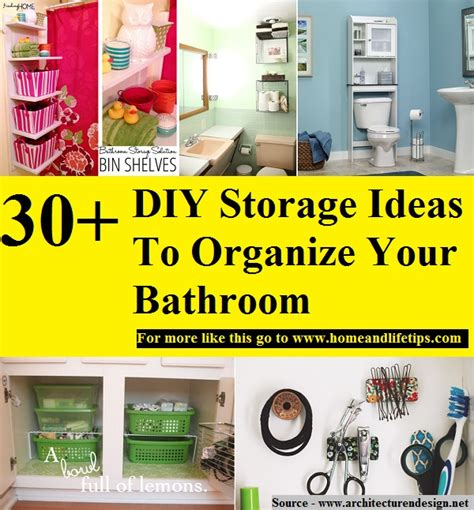 30 Diy Storage Ideas To Organize Your Bathroom Diy Projects 30 Diy Storage Ideas To Organize Your Bathroom Home And Tips
