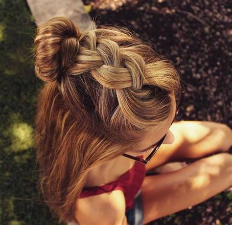 half updo bun hairstyles 45 pretty ideas for casual and formal bun hairstyles