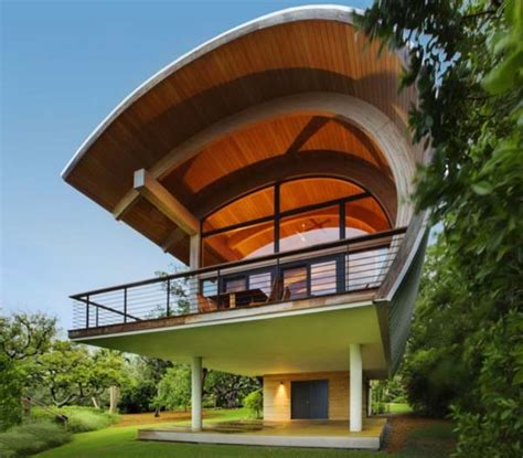 curved roof house designs organic design ideas guest house design with curved wood beams by totems architecture
