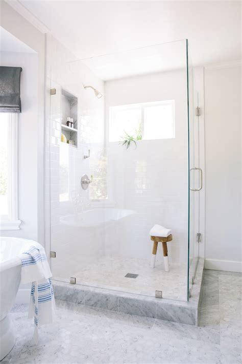 Black Vanity Bench Carrara Marble Bathroom Bathroom Traditional With Carrara