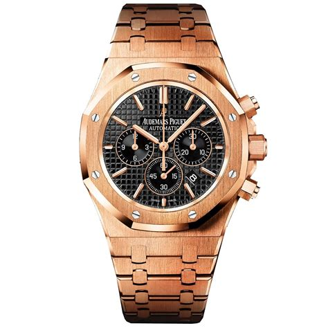 audemars piguet royal oak 18ct gold black s