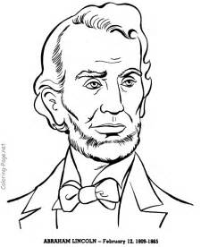 abraham lincoln coloring pages abraham lincoln us president coloring pages
