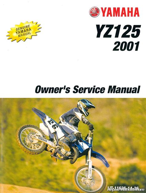 motocross bike repairs 2001 yamaha yz125 motorcycle owners service manual