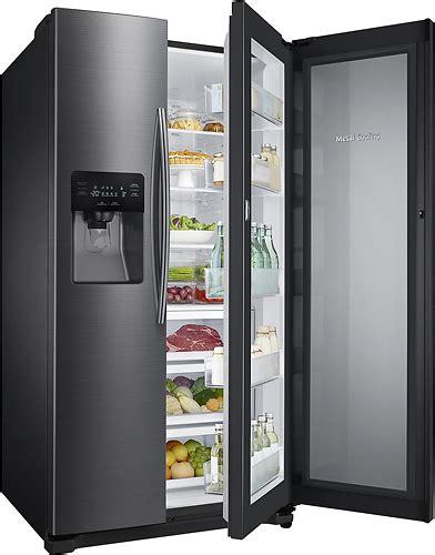 samsung refrigerator 24 7 cu ft side by side samsung showcase 24 7 cu ft side by side refrigerator