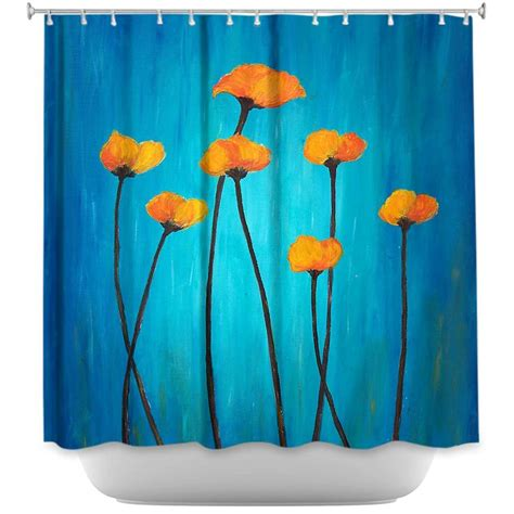 Blue Poppy Curtains 13 Best Images About Floral Shower Curtains On Trees Diana And Vintage Butterfly