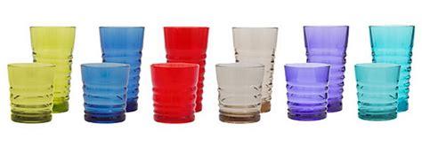 Value Multi Tumbler Tulipware plastic tumblers 12 pack multicolor glasses
