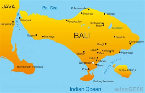 map of bali where is bali with pictures