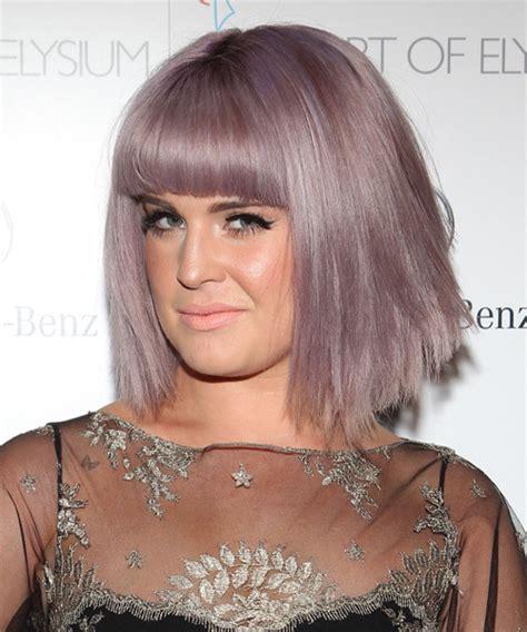 kelly ripa medium straight casual hairstyle medium kelly osbourne medium straight casual bob hairstyle with