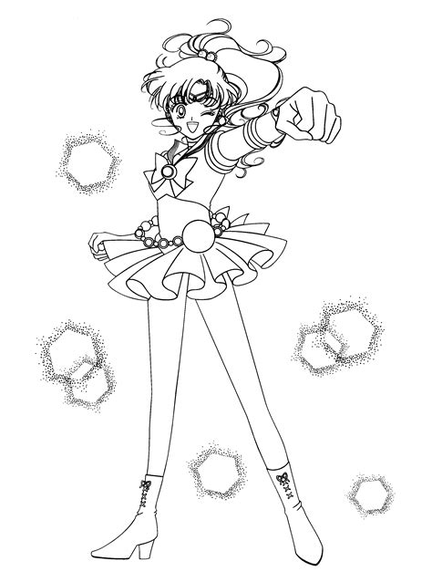 sailor jupiter coloring page sailor moon pinterest