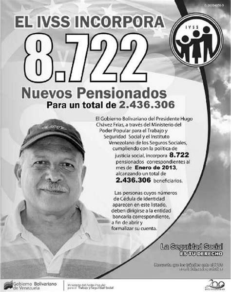 ultimo listado de los pensionados del seguro social mejor conjunto descargar listado de pensionados del 16 de diciembre 2012